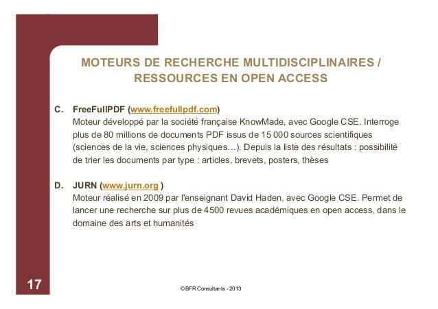 MOTEURS DE RECHERCHE MULTIDISCIPLINAIRES / RESSOURCES EN OPEN ACCESS C.  D.  17  FreeFullPDF (www.freefullpdf.com) Moteur ...