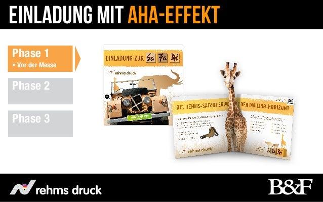 Einladung mit Aha-EffektPhase 1• Vor der MessePhase 2Phase 3