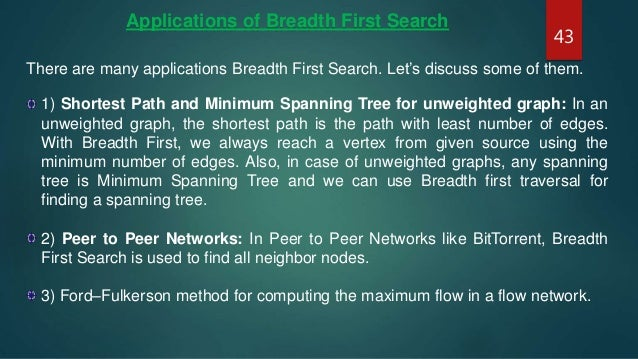 Presentation on Breadth First Search (BFS)