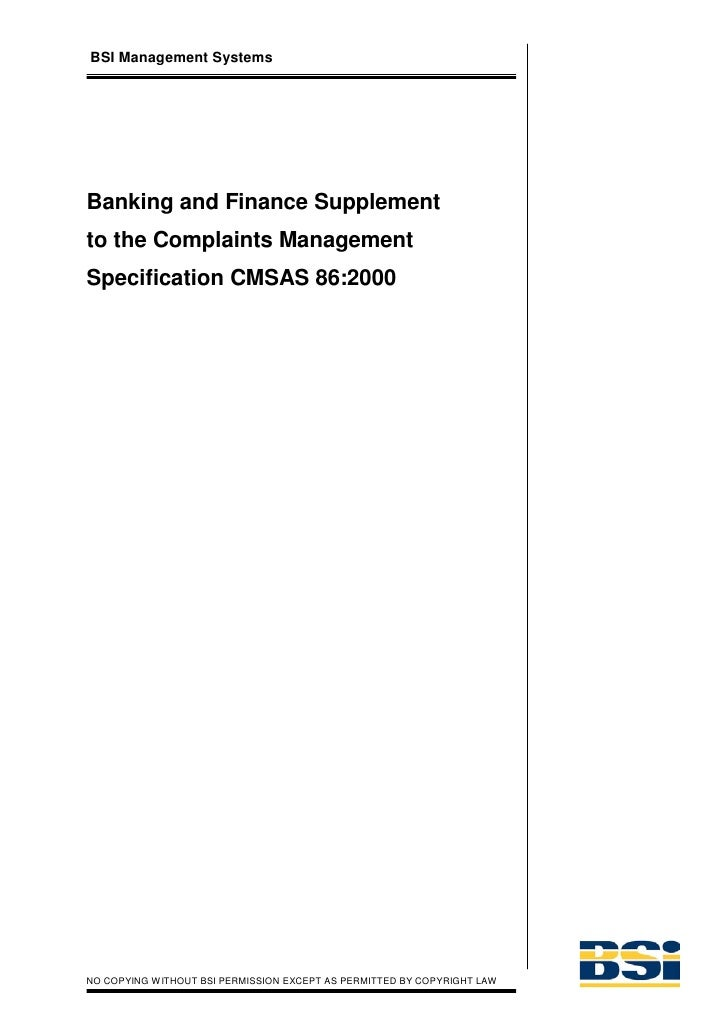 Banking and Finance supplement