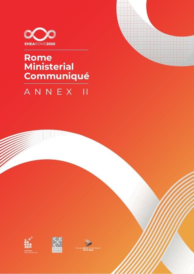 Rome Ministerial Communiqué A N N E X II