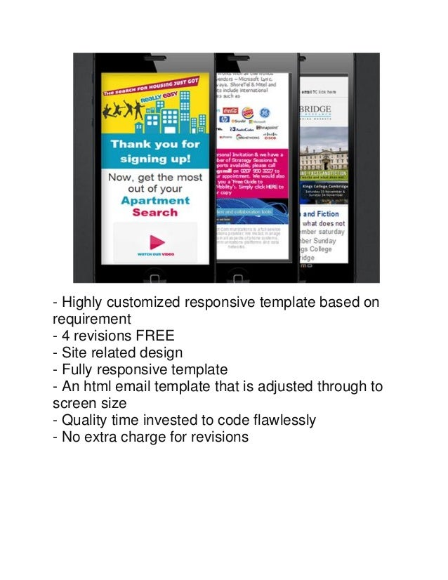 Editable Html Email Template