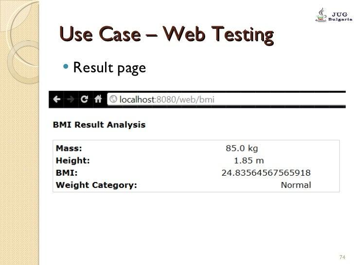 Use Case – Web Testing <ul><li>Result page </li></ul>
