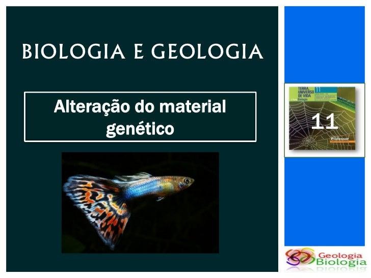 BIOLOGIA E GEOLOGIA  Alteração do material         genético         11