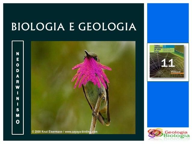 BIOLOGIA E GEOLOGIAN                      11EODARWINISMO