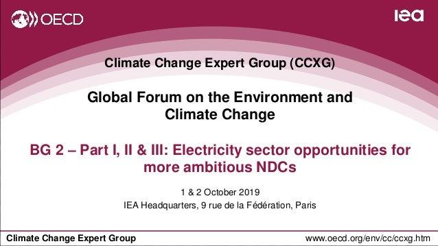 Climate Change Expert Group www.oecd.org/env/cc/ccxg.htm Climate Change Expert Group (CCXG) Global Forum on the Environmen...