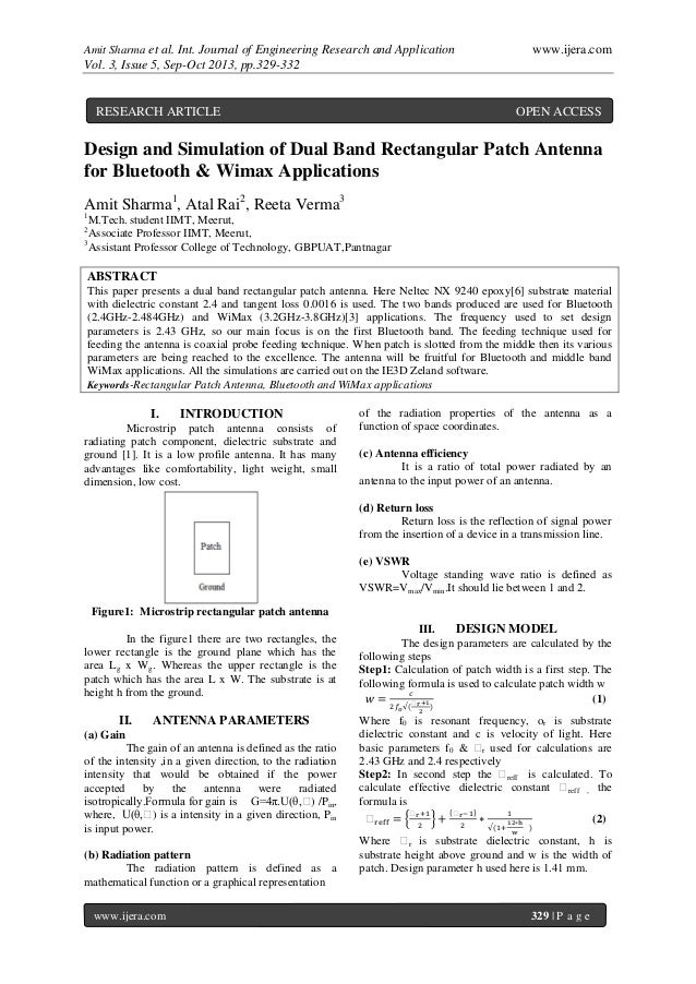 Amit Sharma et al. Int. Journal of Engineering Research and Application www.ijera.com Vol. 3, Issue 5, Sep-Oct 2013, pp.32...