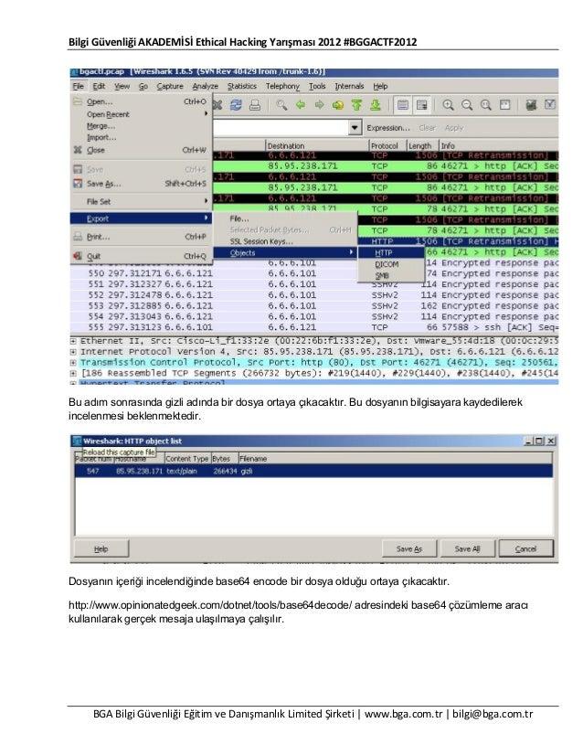 Bilgi Güvenliği AKADEMİSİ Ethical Hacking Yarışması 2012 #BGGACTF2012  Bu adım sonrasında gizli adında bir dosya ortaya çı...