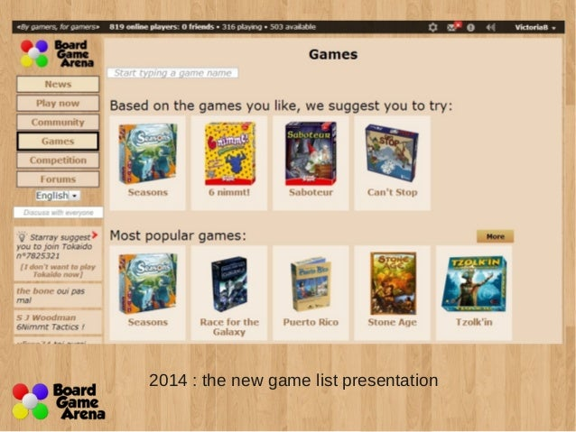 2009 To 2014 A Board Game Arena Design History