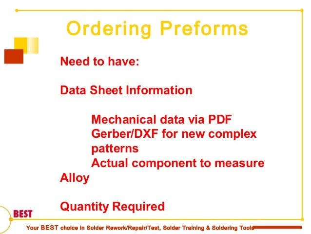BGA Reballing and the Data Sheet