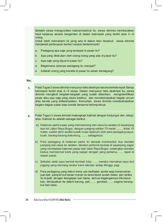 Buku Guru Bahasa Indonesia Kelas Vii Smp Kurikulum 2013