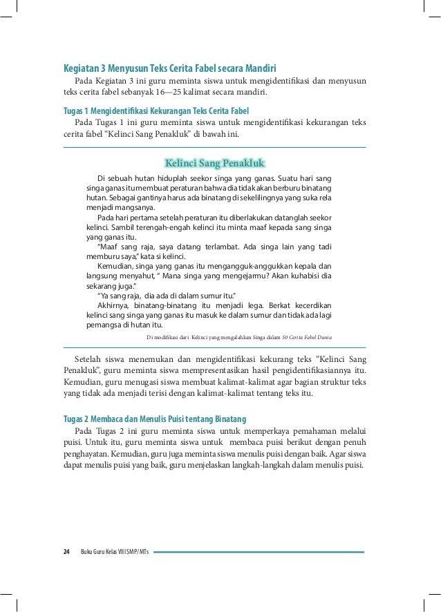 Buku Guru Bahasa Indonesia Kelas Viii Smp Kurikulum 2013