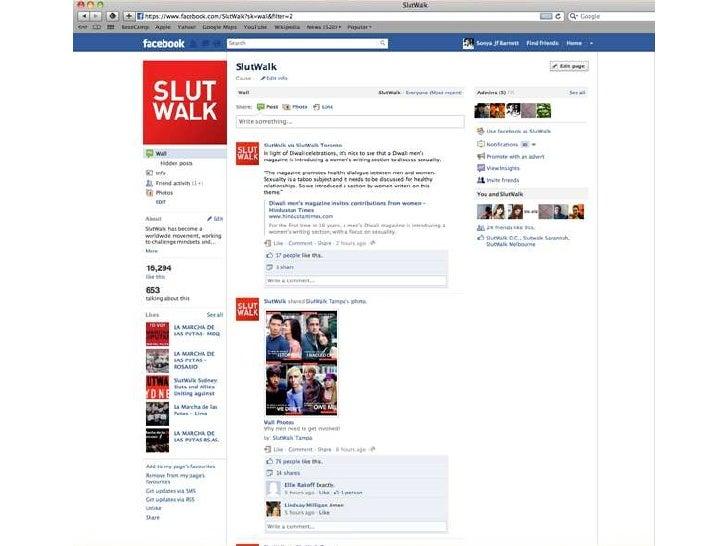 SlutWalk Toronto - Be Good Be Social - October 2011 Slide 2