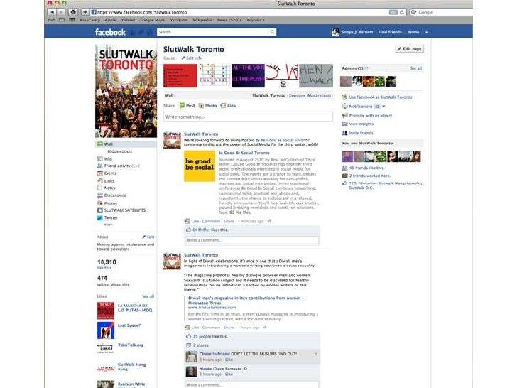 SlutWalk Toronto - Be Good Be Social - October 2011 Slide 3