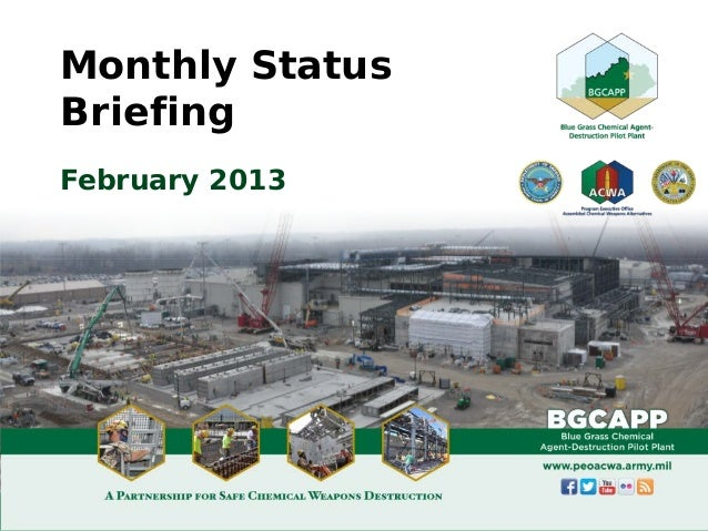 Monthly StatusBriefingFebruary 2013