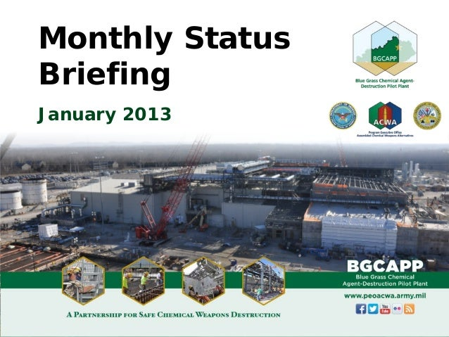 Monthly StatusBriefingJanuary 2013