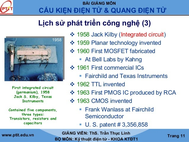 1959 Practical Monolithic Integrated Circuit Concept Patented The