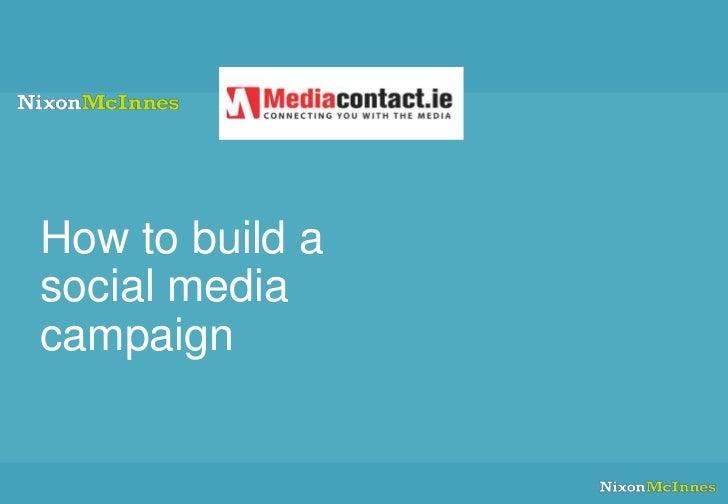 How to build asocial mediacampaign