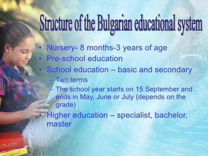 <ul><li>Nursery- 8 months-3 years of age </li></ul><ul><li>Pre-school education </li></ul><ul><li>School education – basic...
