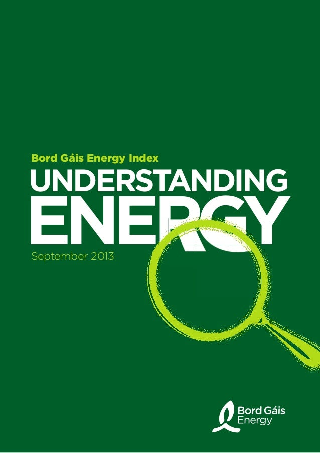 UndErstandinG EnErGyEnErGyEnErGyEnErGy Bord Gáis Energy Index September 2013