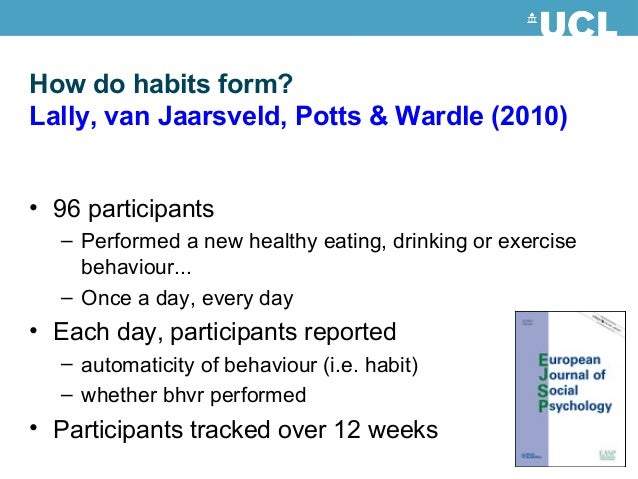 how are habits formed how can