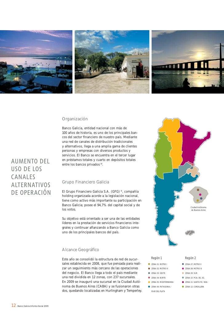 Banco galicia informe 2009 for Sucursales de galicia