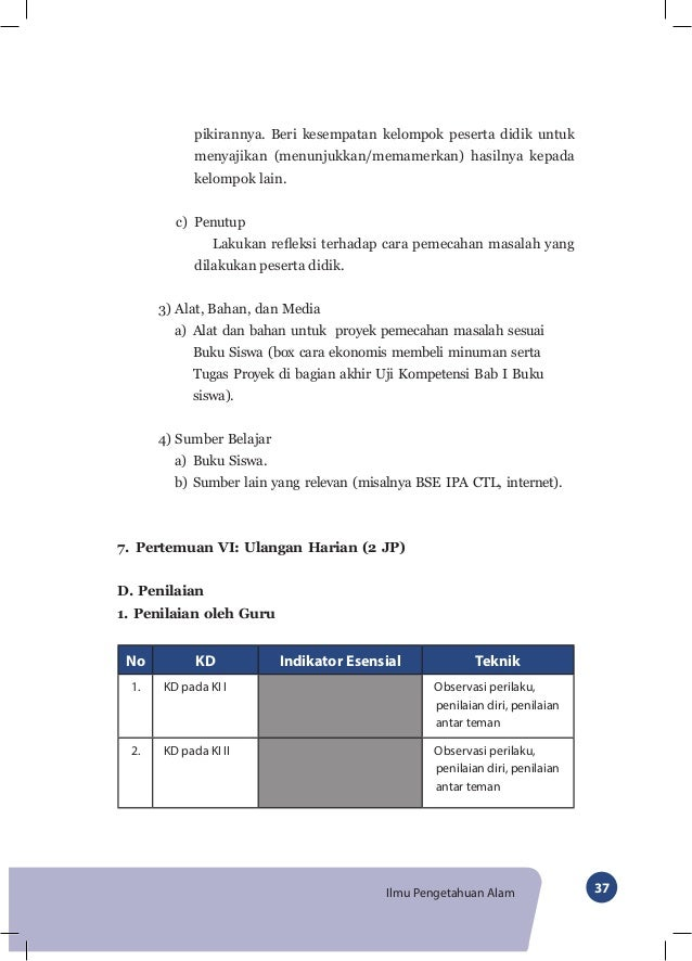 Buku Guru Ipa Kelas Vii Smp Kurikulum 2013