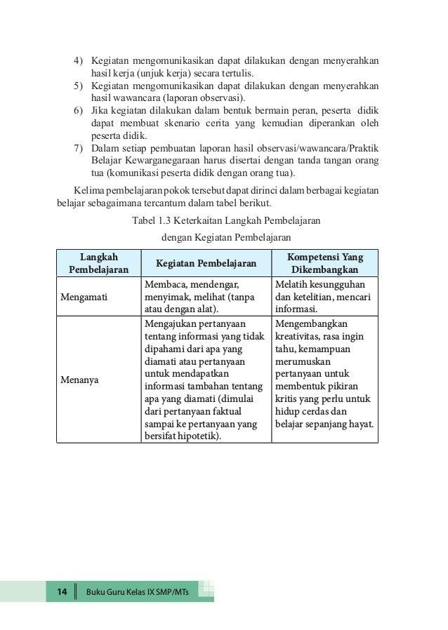 Kunci Jawaban Bahasa Indonesia Kelas 9 Kurikulum 2013 Revisi 2018 Guru Galeri