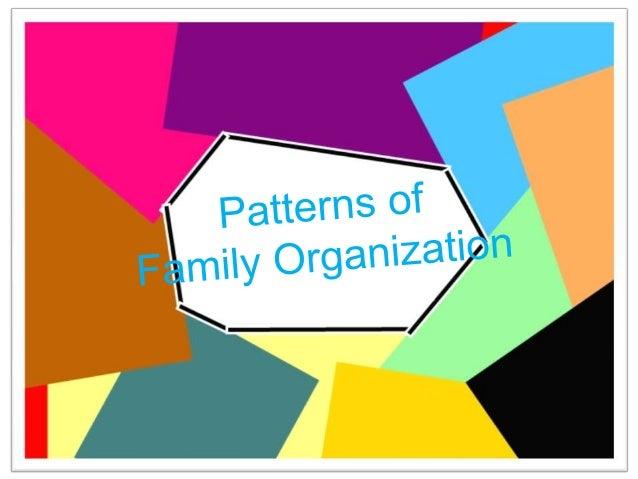 The family serves as a model for the establishment