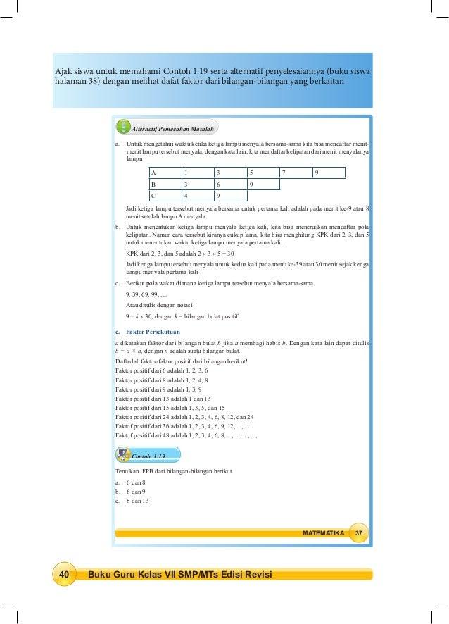 Kunci Jawaban Buku Paket Matematika Kelas 7 Semester 2 ...