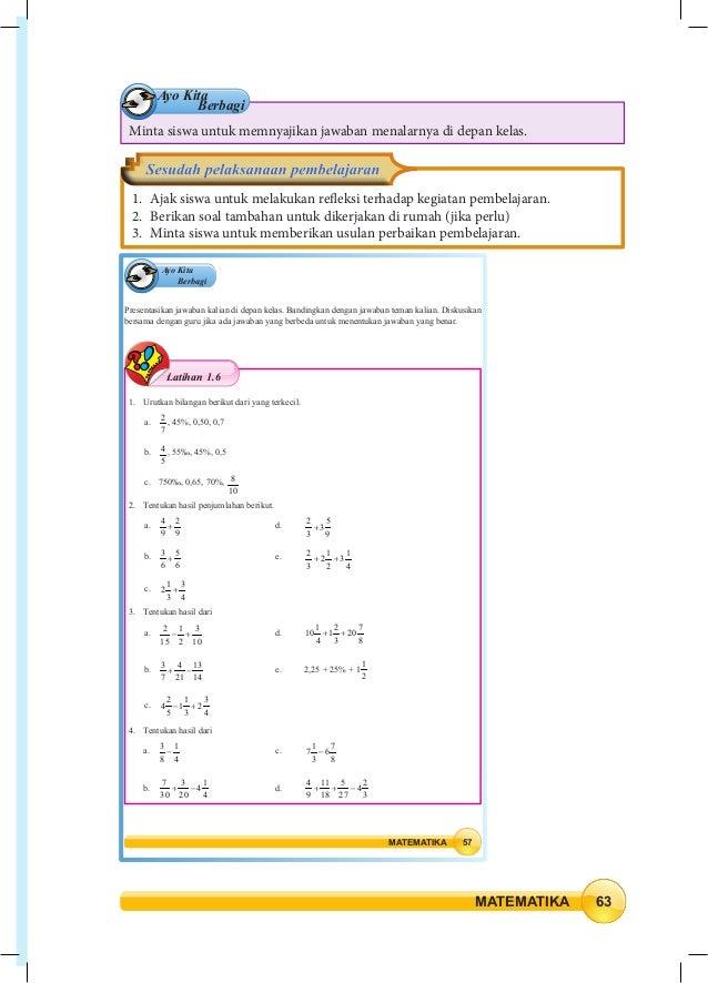 Kunci Jawaban Matematika Kelas 7 Semester 1 Kurikulum 2013