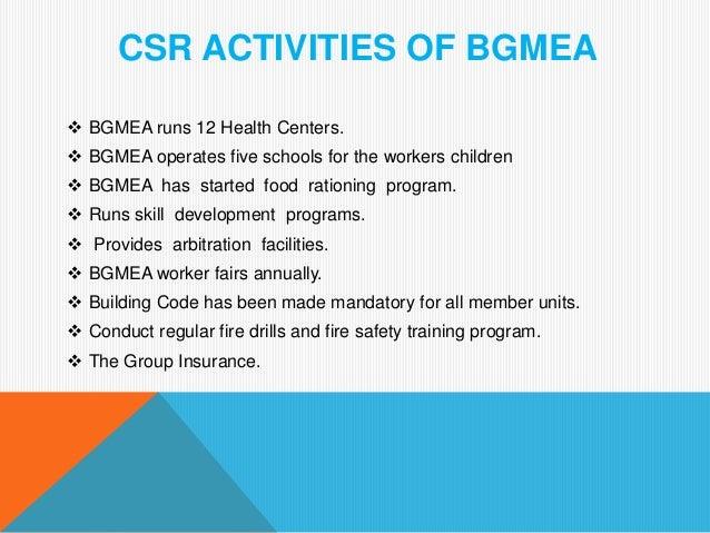 Bgmea training program