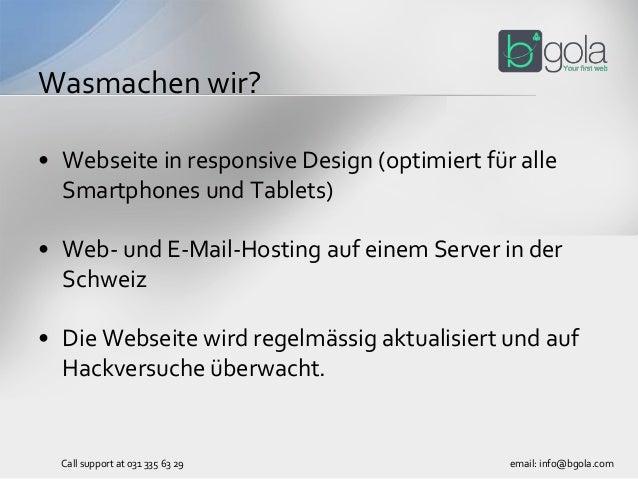 • Webseite in responsive Design (optimiert für alle Smartphones und Tablets) • Web- und E-Mail-Hosting auf einem Server in...