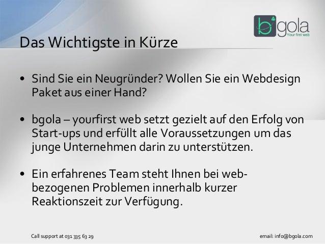 • Sind Sie ein Neugründer? Wollen Sie ein Webdesign Paket aus einer Hand? • bgola – yourfirst web setzt gezielt auf den Er...