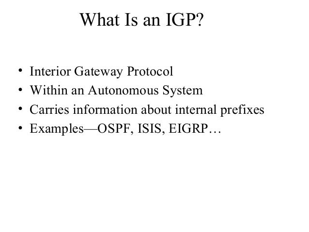 Bgp 1 for Exterior gateway protocol examples