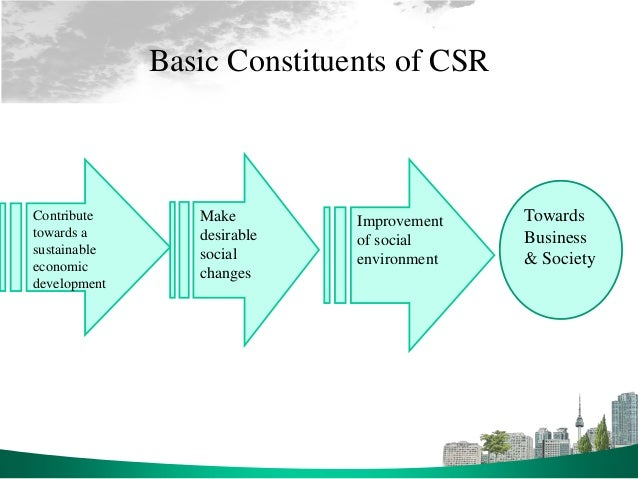 corporation social responsibility Corporate social responsibility, or csr, is a corporation's obligation to its stakeholders, which are any groups/people that have a stake or interest in a company's success and products this includes customers, employees, suppliers, investors and the communities surrounding the business.