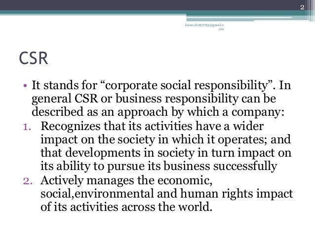 what does the acronym csr stand for