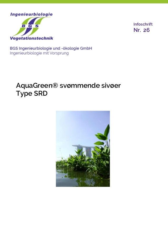 AquaGreen® svømmende sivøer Type SRD Infoschrift Nr. 26