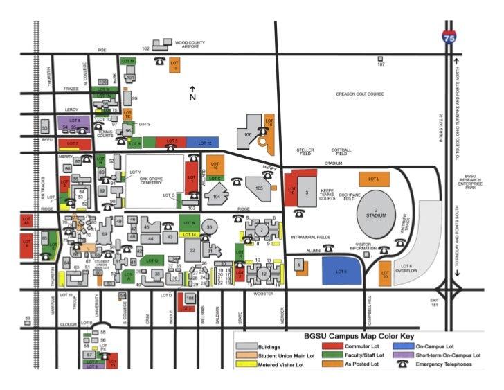 bgsu campus map - Karlapa.ponderresearch.co