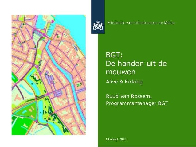 BGT:De handen uit demouwenAlive & KickingRuud van Rossem,Programmamanager BGT14 maart 2013