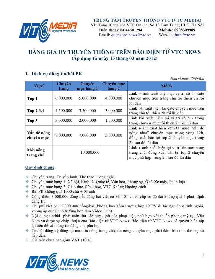 TRUNG TÂM TRUYỀN THÔNG VTC (VTC MEDIA)                                     VP: Tầng 10 tòa nhà VTC Online, Số 18 Tam Trinh...