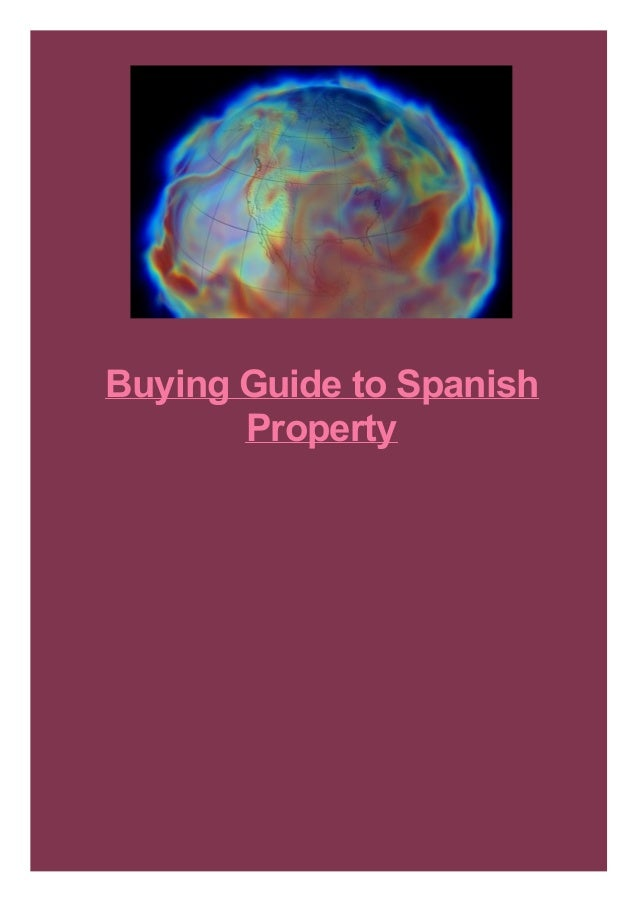 Buying Guide to Spanish Property