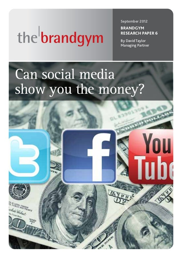 September 2012               BRANDGYM               RESEARCH PAPER 6               By David Taylor               Managing ...