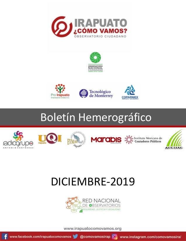Boletín Hemerográfico DICIEMBRE-2019
