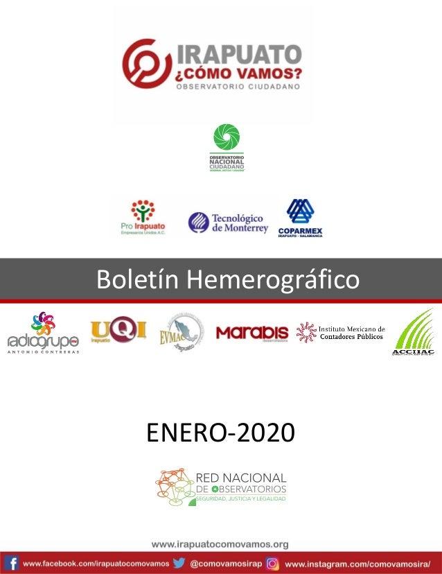 Boletín Hemerográfico ENERO-2020