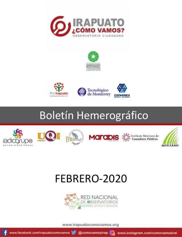 Boletín Hemerográfico FEBRERO-2020