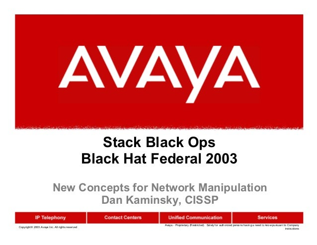 Copyright© 2003 Avaya Inc. All rights reserved Avaya - Proprietary (Restricted) Solely for authorized persons having a nee...