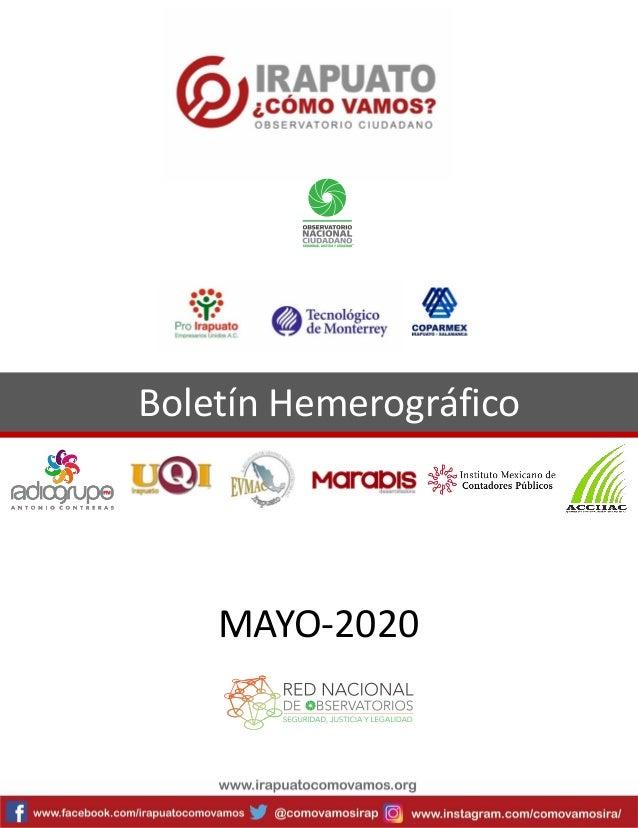 Boletín Hemerográfico MAYO-2020