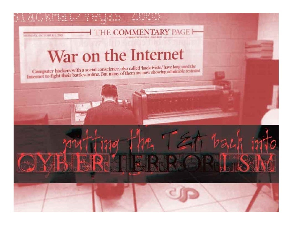 Cyber terrorism/warfareA packet can't fly a plane…Typical types of attack:  –Denial of service  –Breeching the perimeterPr...
