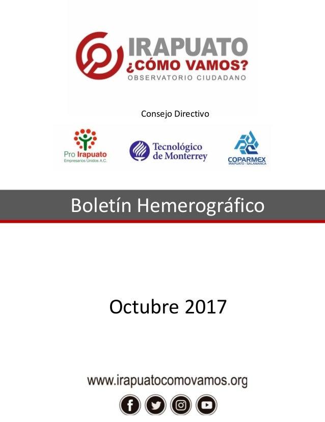 Boletín Hemerográfico Octubre 2017 Consejo Directivo